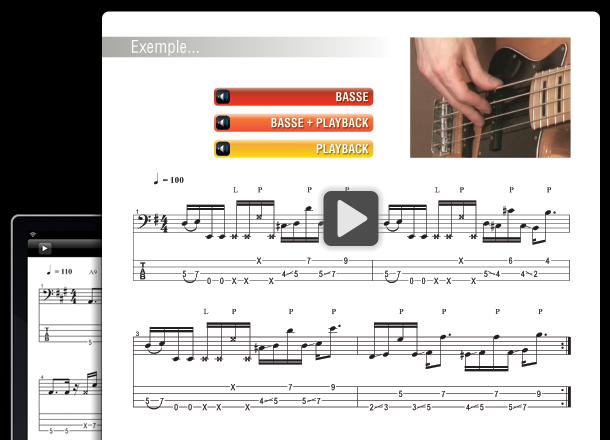 Tablature à télécharger et cours de guitare gratuit partition.